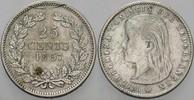 Niederlande-Königreich 25 Cent Wilhelmina I. 1890-1948.