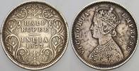 1/2 Rupie 1877 Indien-Britisch Empire 1765...