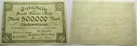 Das Papiernotgeld von Westfalen 500 000 Mark Stadt Bünde