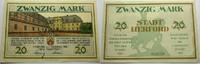 Das Papiernotgeld von Westfalen 20 Mark Stadt Herford