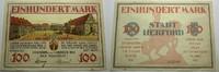 Das Papiernotgeld von Westfalen 100 Mark Stadt Herford