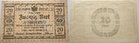 Das Papiergeld der deutschen Länder 20 Mark Herzogliche Finanzdirektion, Dessau