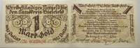 Das Papiernotgeld von Westfalen 1 Goldmark LANDKREIS BIELEFELD