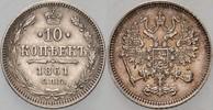 10 Kopeken 1861 Paris oder Strasbour Russl...