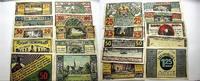 Deutsche Serienscheine Serie von 2x25 Pf.,2x50 Pf.