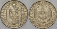 Gedenkmünzen 3 Reichsmark 1928 D Wz. Rdf., vorzügl