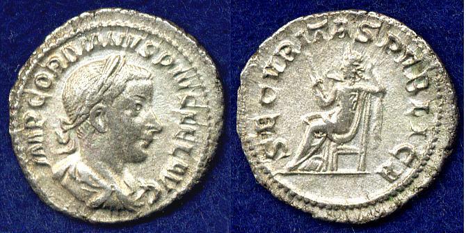 Denar Römisches Kaiserreich Gordianus III. (238-244) ss-vz