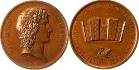 Bronzemedaille 1797 NAPOLEON UND SEINE ZEIT 1. Republik (1793-1804) / Napoleon Bonaparte vz, kl. Fleck