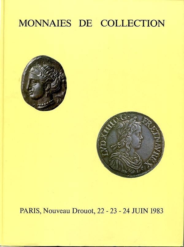 Auktionskatalog (No.4) 1983 Barthold / Baudey&Pesce / Poinsignon Antike, Frankreich, numismatische Bibliothek sehr gut