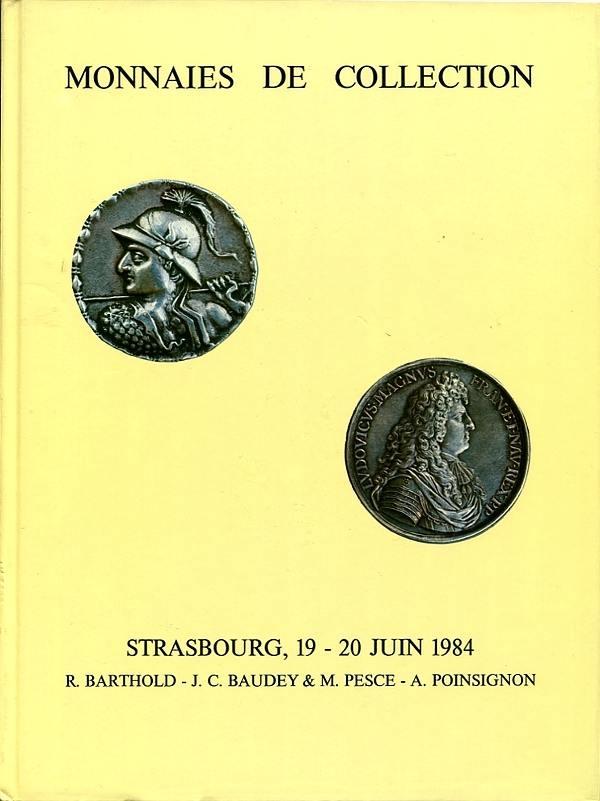 Auktionskatalog (No.5) 1984 Barthold / Baudey&Pesce / Poinsignon Antike (u.a. Serie Baktrien), Frankreich, etc. sehr gut