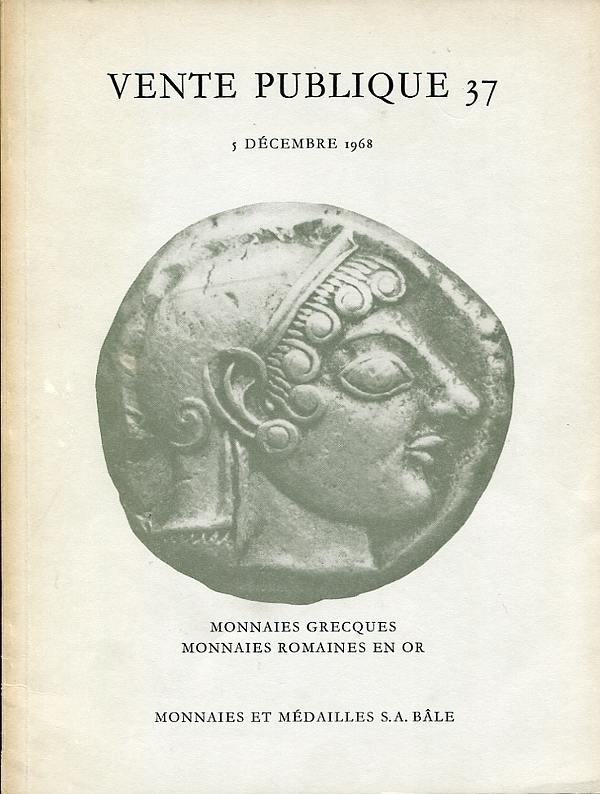 Auktion 37 1968 MÜNZEN UND MEDAILLEN AG / Basel Griechische Münzen und römische Goldmünzen leicht gebraucht