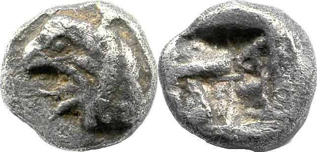 Hemidrachme 6. Jh. v. Chr. Ionien – Phokaia Greifenkopf ss
