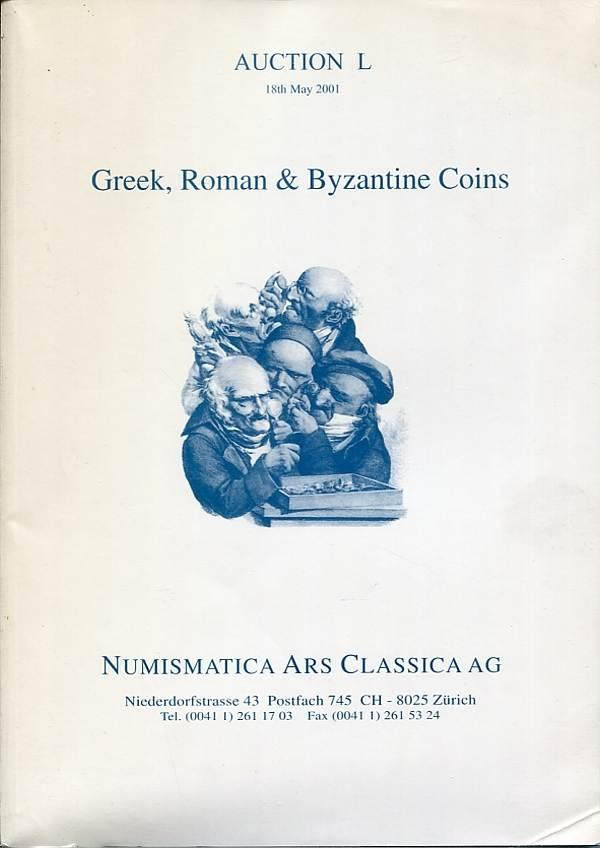 Auktionskatalog L 2001 Numismatica Ars Classica (NAC) Griechen, Römer, Byzantiner fast neuwertig