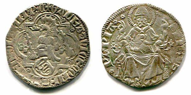 Grosso da 1 1/2 Soldo o. J. Mailand / Milano Galeazzo II. Visconti (1355-1378) ss+