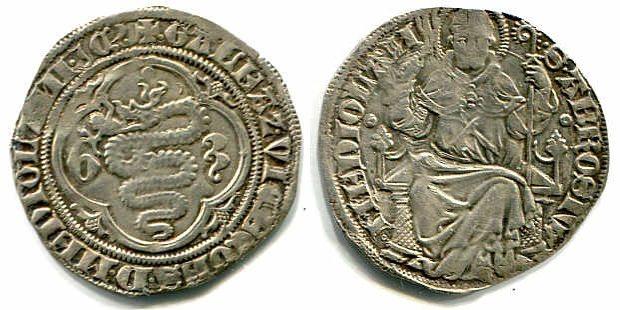 Grosso da 1 1/2 Soldo o. J. Mailand / Milano Gian Galeazzo Visconti (1385-1402) ss-vz für diese Prägung!