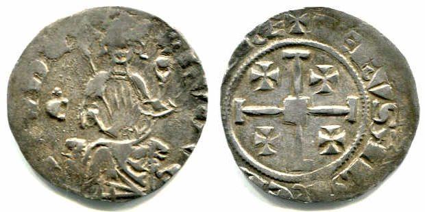 Grosso o. J. Zypern Hugo IV. (1324-1359) ss, übl. Prägeschwächen