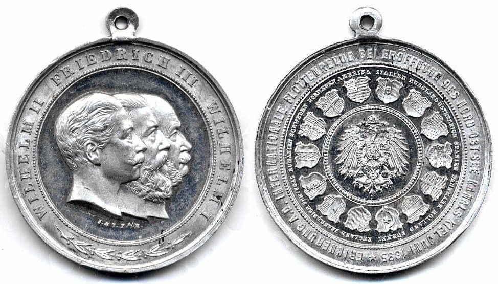 Alu-Medaille 1895 Preußen Schiffahrt vz