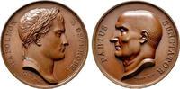NAPOLEON UND SEINE ZEIT Bronzemedaille Napoleon I. / Aufenhalt im Ostpreußischen Osterode (Ostróda)