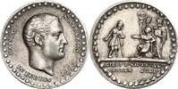 NAPOLEON UND SEINE ZEIT Silbermedaille Napoleon I. / Auszahlung des Soldes an preußische Invaliden