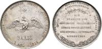NAPOLEON UND SEINE ZEIT Silbermedaille Befreiungskriege / Geburtstagswidmung an Friedrich Wilhelm III.