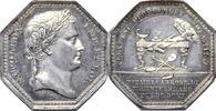 NAPOLEON UND SEINE ZEIT 8-eckige Silbermedaille Napoléon I. / Notare von Clermont-Ferrand