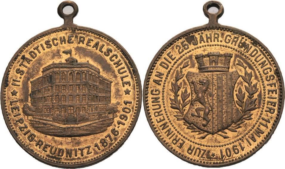 Bronzemedaille 1901. Leipzig Fast vorzüglich