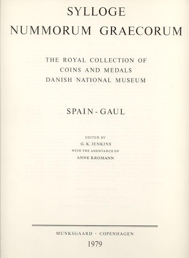 1979 SYLLOGE NUMMORUM GRAECORUM SNG COPENHAGEN 43: Spain-Gaul NEU