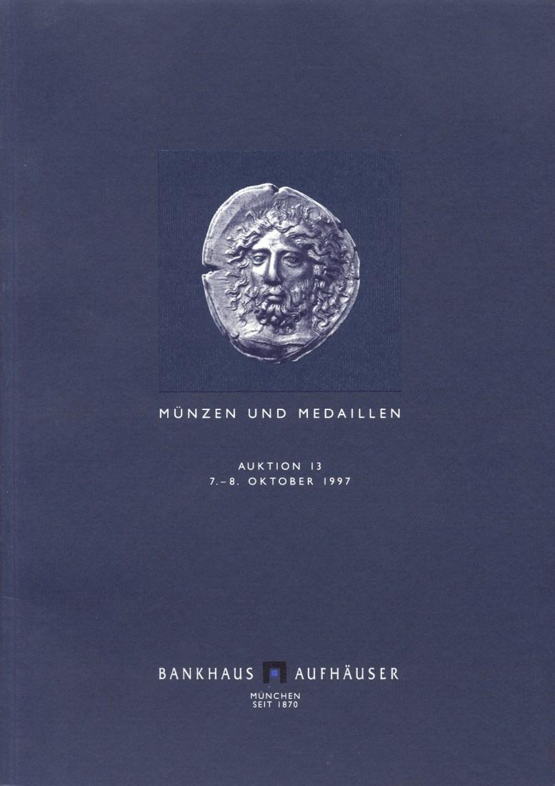 1997 AUCTION CATALOGUES - AUFHÄUSER AUKTION 13 (1997)- ANTIKE - MITTELALTER & NEUZEIT neuwertig