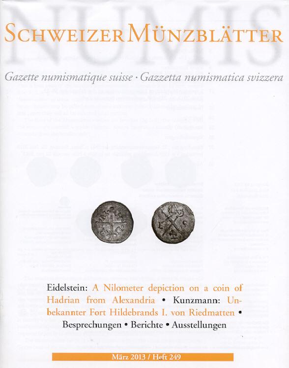 2013 PERIODICALS - SCHWEIZER MÜNZBLÄTTER 249, 2013 NEU