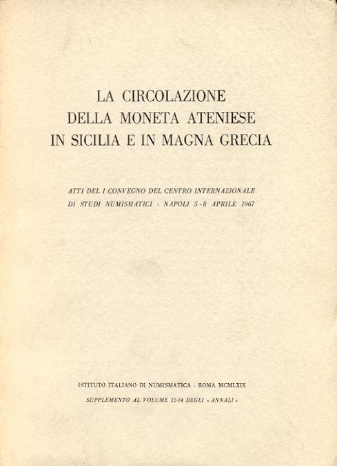 1969 GREEK COINS - LA CIRCOLAZIONE DELLA MONETA ATENIESE fast neuwertig