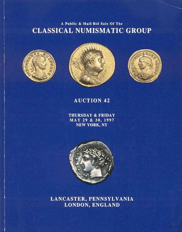 1997 AUCTION CATALOGUES CLASSICAL NUMISMATIC GROUP (CNG) - AUCTION 42 (1997) Druckfrisch