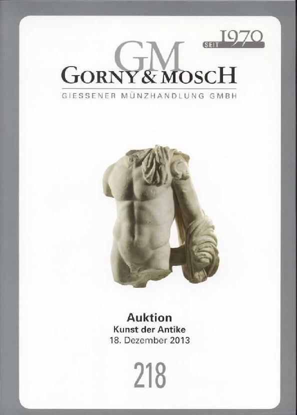 2013 ANCIENT ART - GORNY & MOSCH 218, 2013 - KUNST DER ANTIKE druckfrisch
