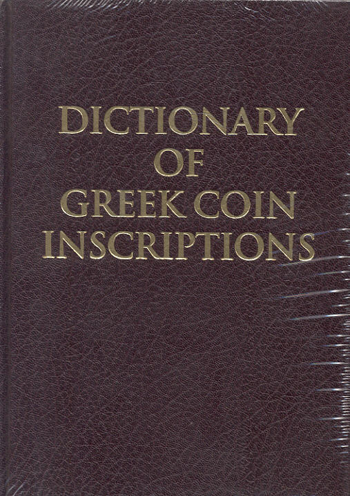 1979 ANCIENT COINS - ICARD - DICTIONARY OF GREEK COIN INSCRIPTIONS NEU