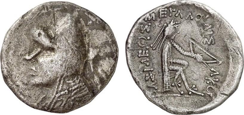Drachme GREEK COINS - PARTHER - MITHRADATES I, 164-132 Sehr schön