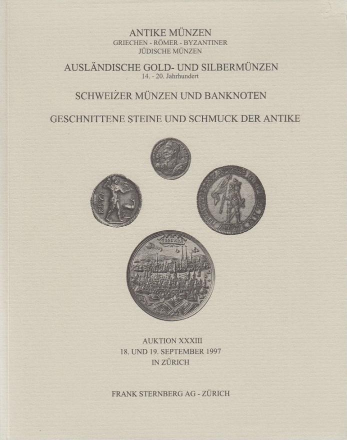 1997 Auction Catalogues Sternberg 33 1997 Antike Münzen