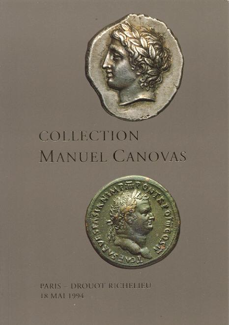 1994 AUCTION CATALOGUES VINCHON - COLLECTION MANUEL CANOVAS Druckfrisch