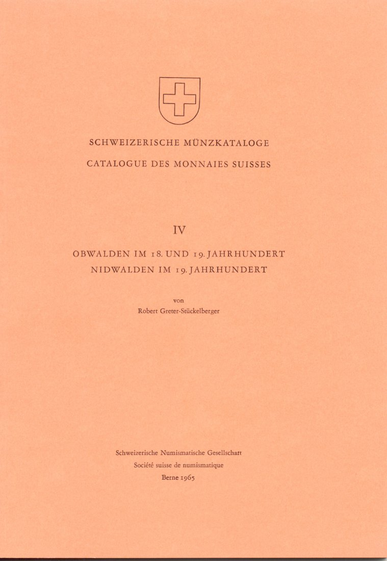 1965 SCHWEIZ - OBWALDEN - NIDWALDEN - Schweiz. Münzkataloge IV NEU