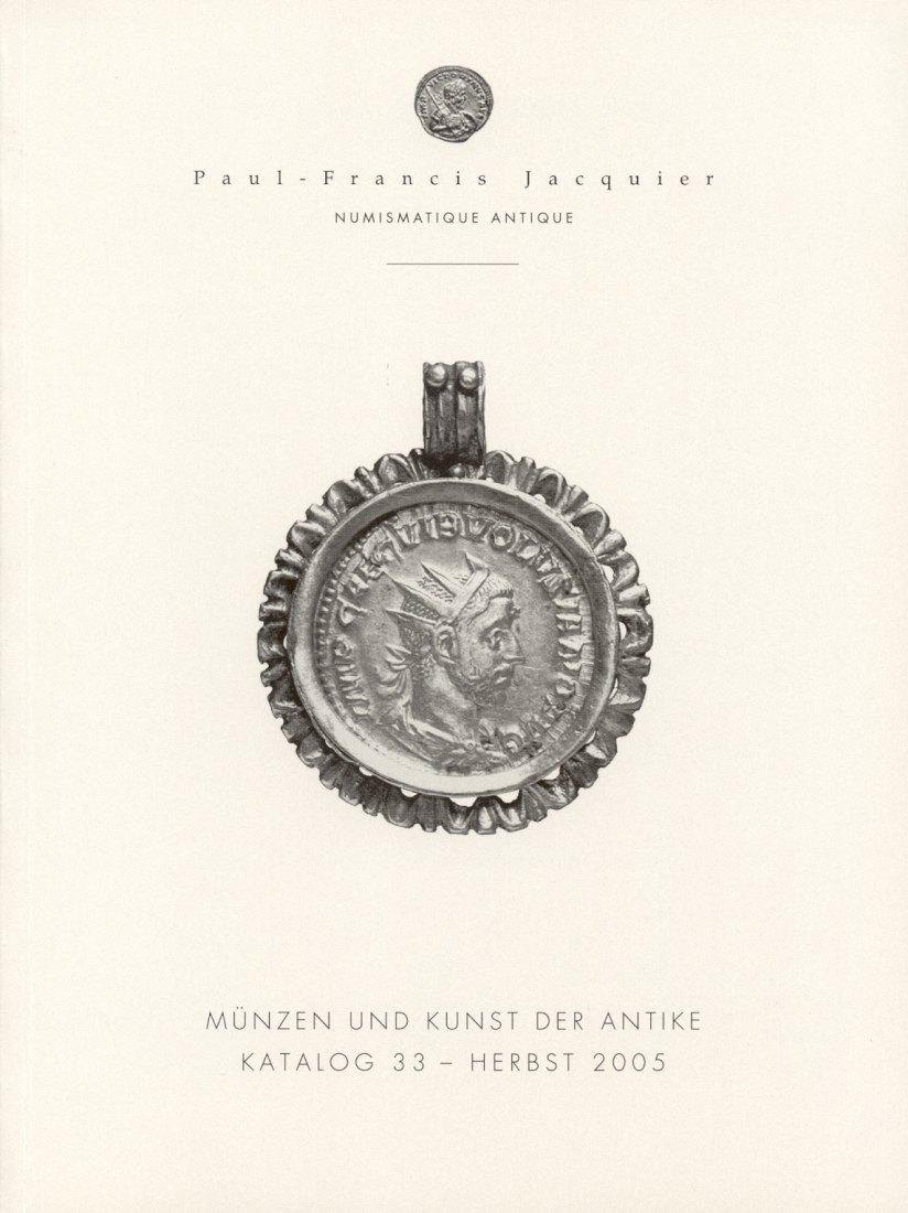 2005 AUCTION CATALOGUES - PAUL-FRANCIS JACQUIER - KATALOG 33, 2005 Druckfrisch