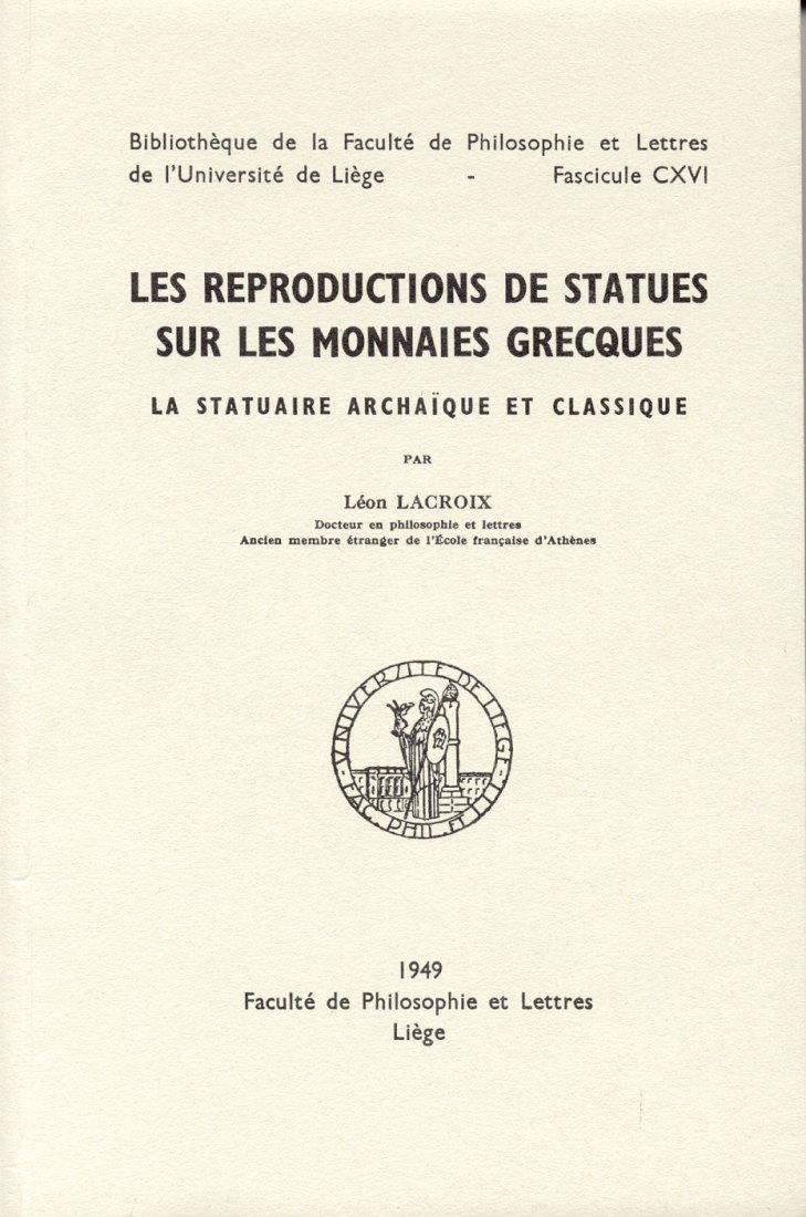 1949 ANCIENT COINS - LACROIX - REPRODUCTION STATUES MONNAIES GRECQUES NEU