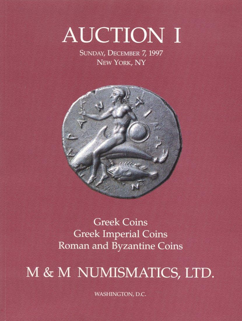 1997 AUCTION CATALOGUES M & M NUMISMATICS NEW YORK - AUKTION 1 (1997) neuwertig