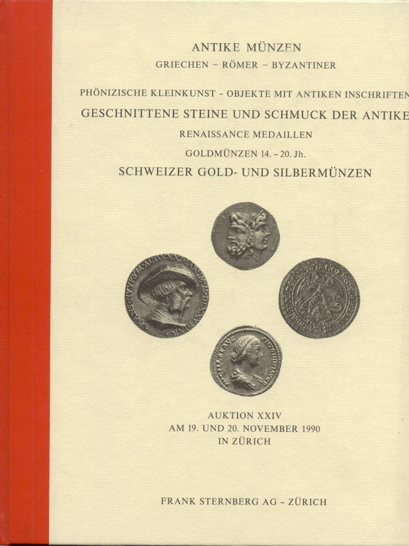 1990 AUCTION CATALOGUES STERNBERG AUKTIONSKATALOG 24 - ANTIKE MÜNZEN neuwertig