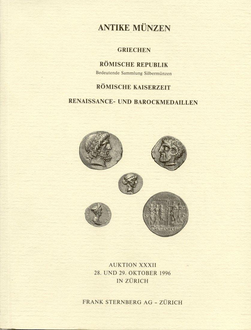 1996 AUCTION CATALOGUES STERNBERG AUKTIONSKATALOG 32 - ANTIKE MÜNZEN neuwertig