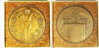 Netherlands Medal/penning 75 Year iron railway company Nethelands Medal.1914.