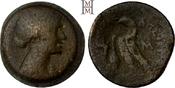 40 Drachmai 51-31 v. Chr Ägypten Kleopatra VII. 51-30 v. Chr.. Sehr selten, dunkelbraune Patina, gutes schön