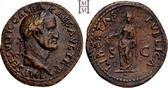 As 68-69 n. Chr. Römische Kaiserzeit Galba 68-69. Hervorragendes Portrait, rotbraune Patina, vorzüglich