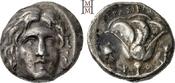 Didrachme 250-230 v. Chr Inseln vor Karien Rhodos Dunkle Tönung, gutes sehr schön