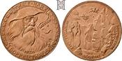 Doppeltaler (6 Mark) 1923 Notmünzen deutscher Städte und Gemeinden Thale am Harz (Sachsen). Vorzüglich