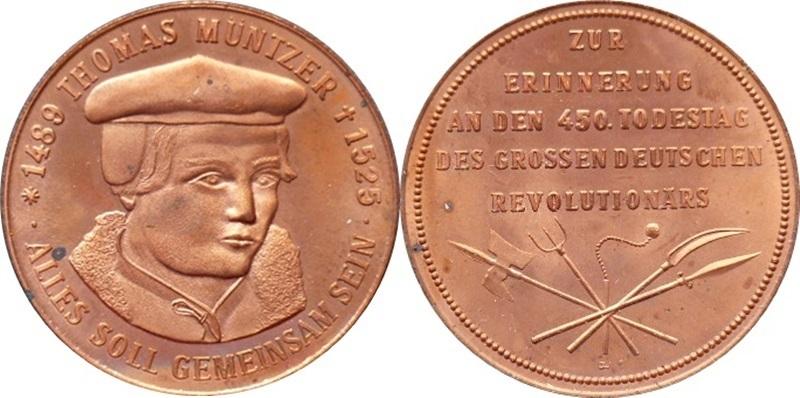 DDR B.4664 Thomas-Müntzer-Medaille Bronze