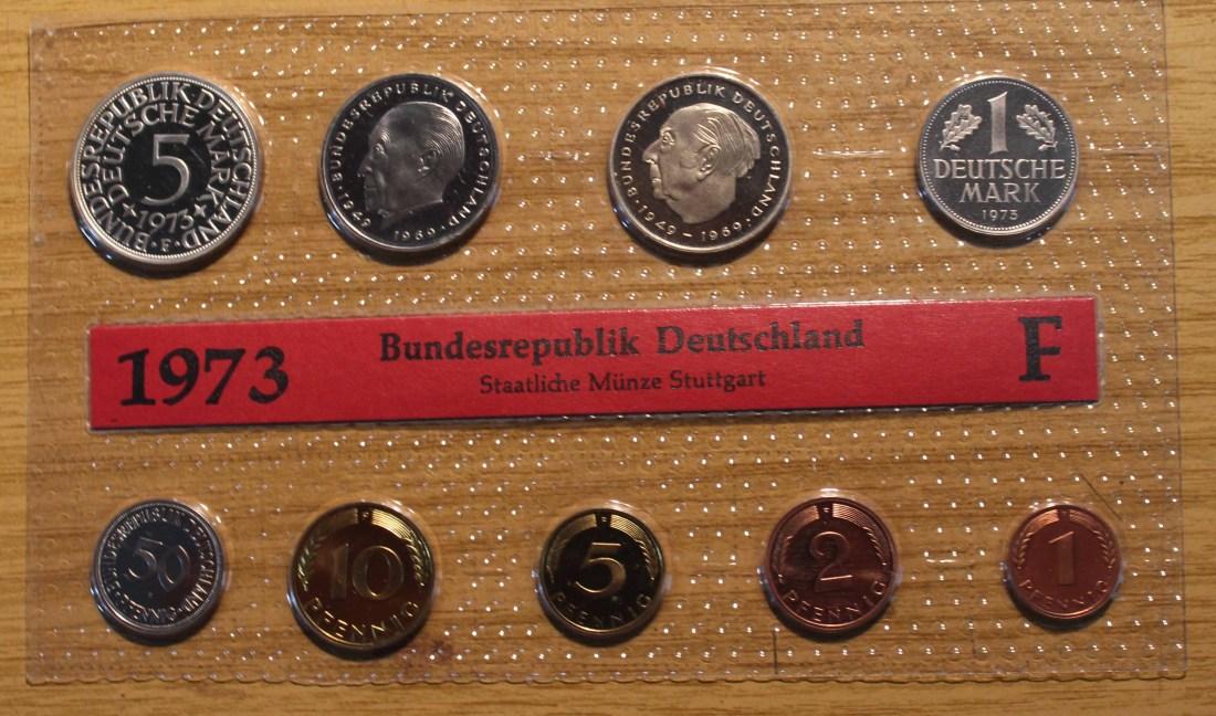 868 1973 Deutschland Brd Kms 1973 F Original Auflage Nur 9100 Stk