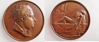 gr. Bronzemedaille 1829 Grossbritannien / Medicina in Nummis von W. Wyon - auf d. Chirurgen und Urologen - St. Thomas Hospital - England- RAR ss-vz, st.Rdf.